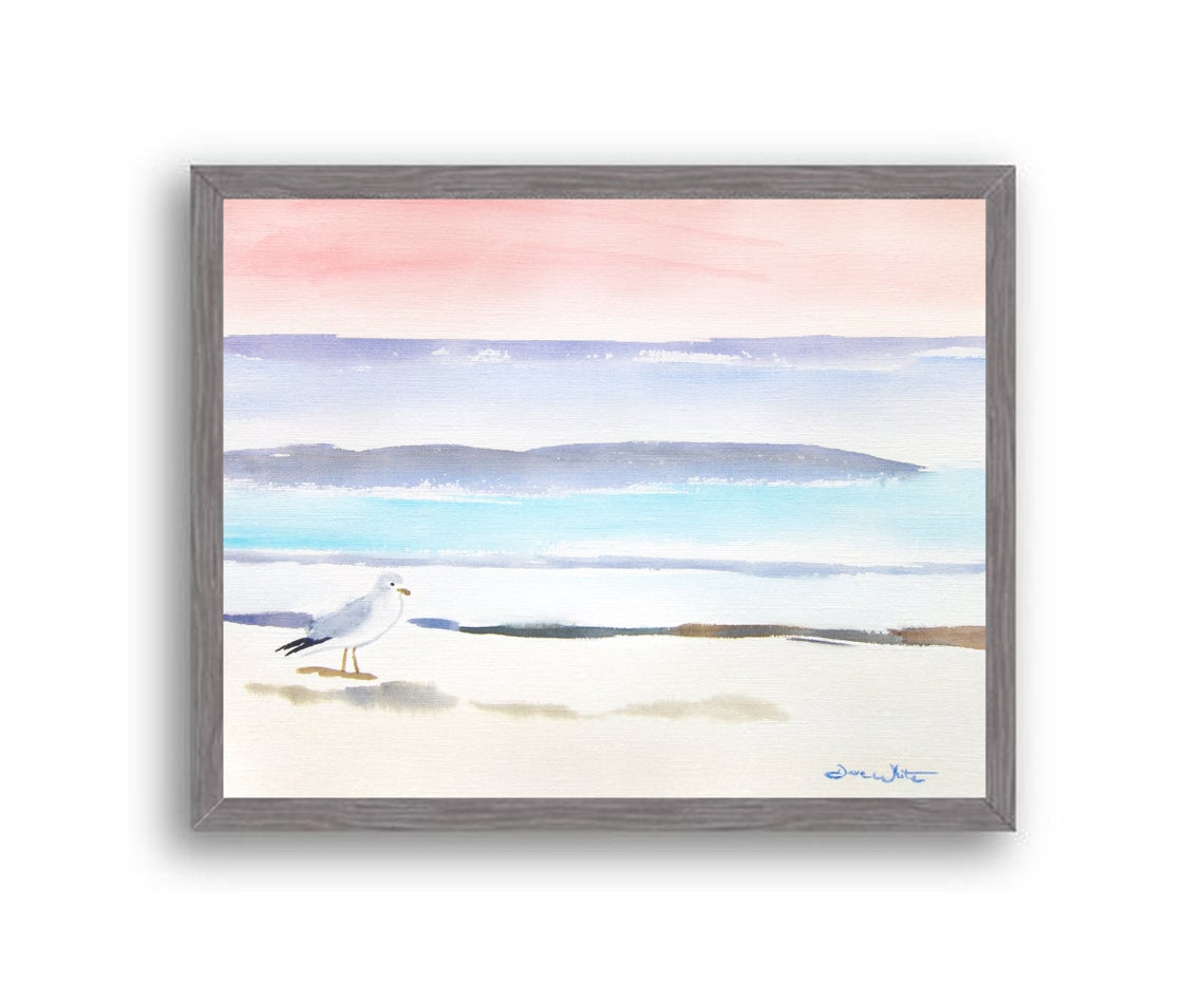 Seagull Beach Painting